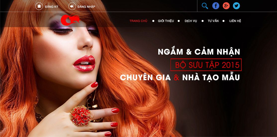 Website - Tiệm làm móng, làm tóc