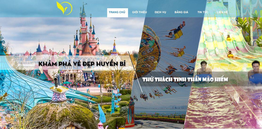 Website - Khu vui chơi, du lịch