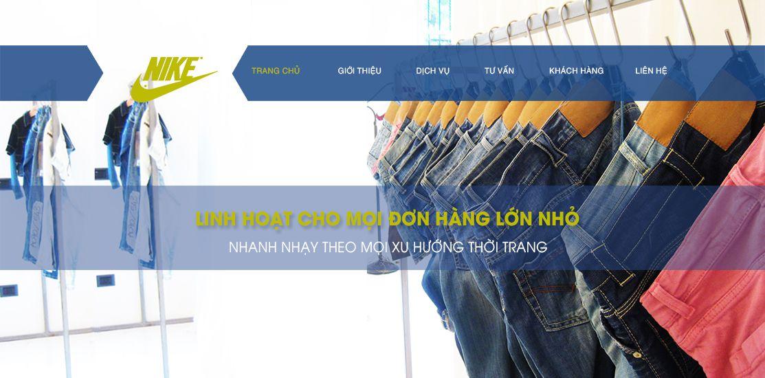 Website - Gia công giày dép, áo quần