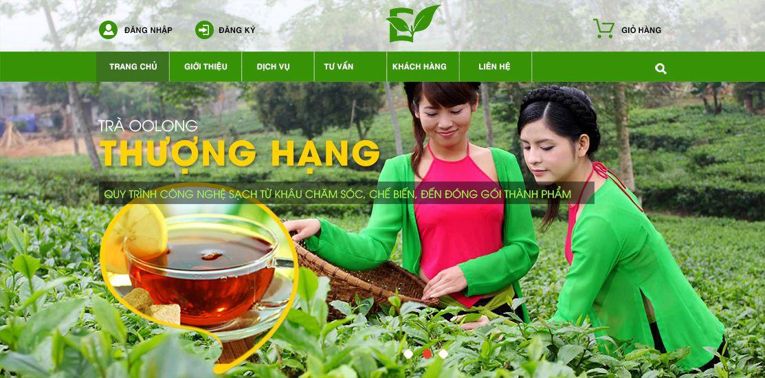 Website - Chế biến trà, cà phê