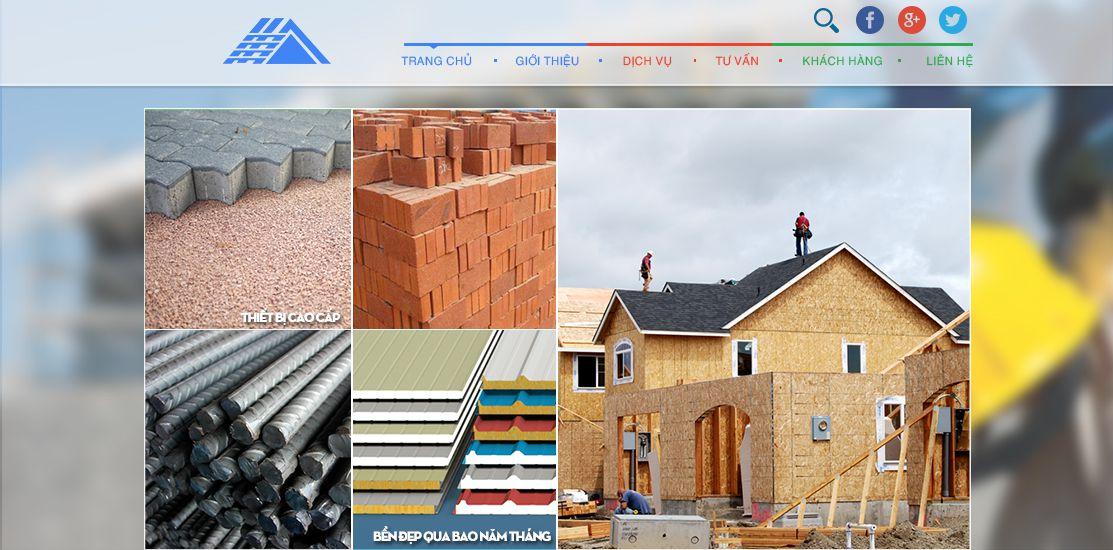 Website - Vật liệu xây dựng