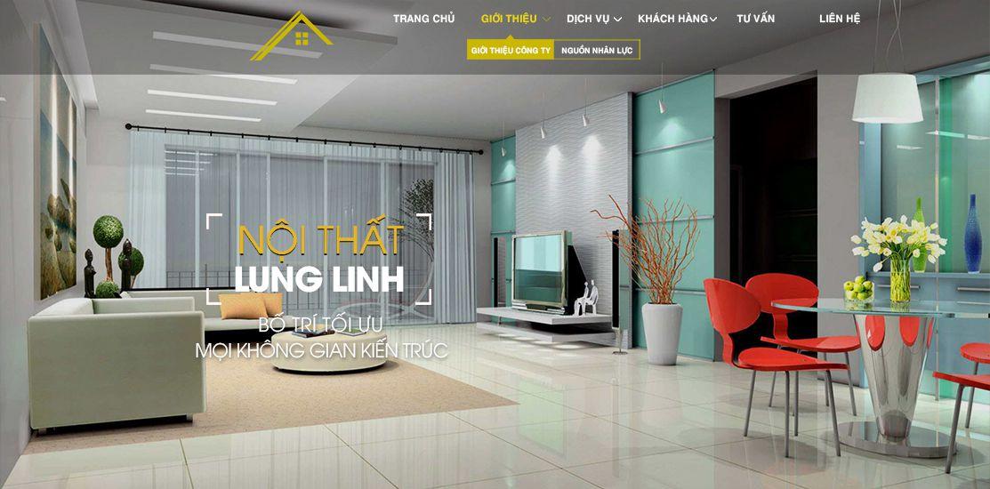 Website - Thiết kế & Trang trí nội ngoại thất
