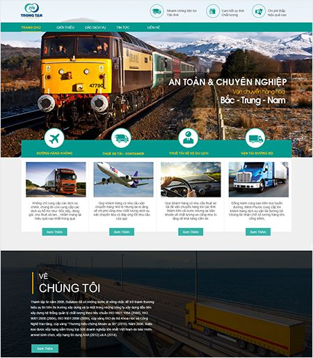 Website - Dịch vụ vận chuyển hàng hóa