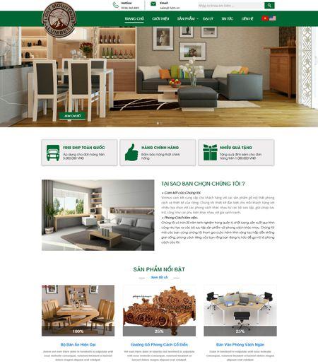 Website - Bán hàng đồ gỗ