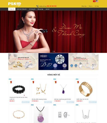 Website - Bán hàng trang sức