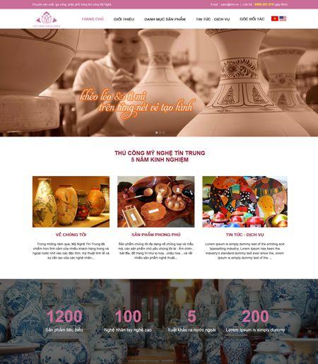 Website - Cơ sở SX mỹ nghệ