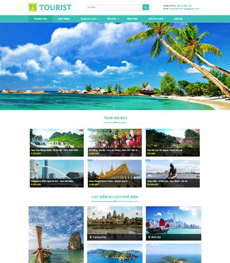 Website - Tour du lịch