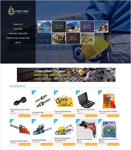 Website - Bán hàng máy móc cơ khí