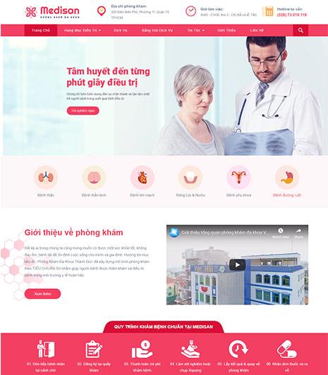 Website - Phòng khám đa khoa