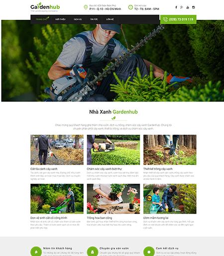 Website - Chăm sóc cây cảnh